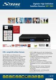 Digitaler High Definition Satelliten Receiver SRT 7805 - STRONG ...