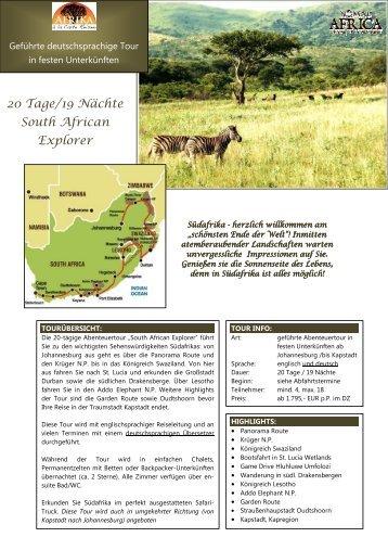 Kleingruppen-Touren - Afrika à la Carte Reisen