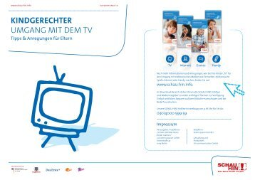 KINDGERECHTER UMGANG MIT DEM TV - Schau Hin