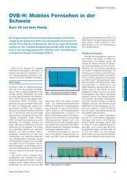 DVB-H: Mobiles Fernsehen in der Schweiz - Prof. Dr. Bruno Studer