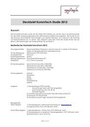 Steckbrief KommTech-Studie 2012 - Publica Data AG