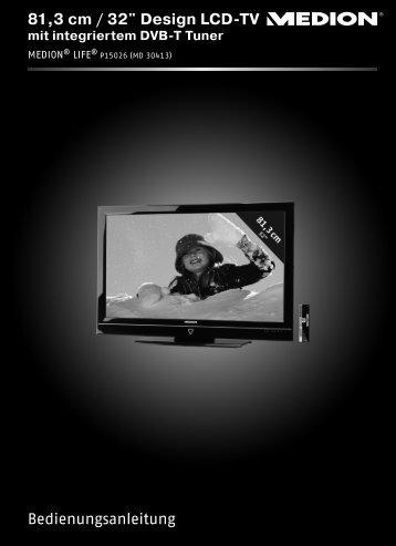 """Bedienungsanleitung 81,3 cm / 32"""" Design LCD-TV - medion"""