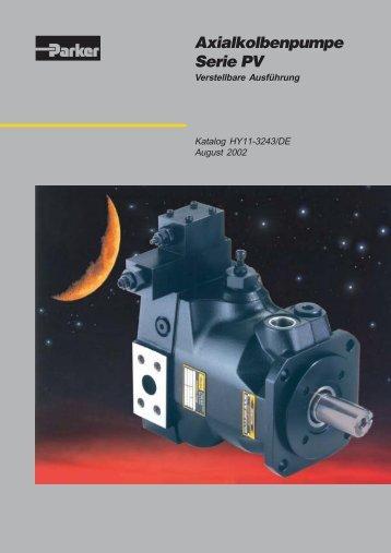 Axialkolbenpumpe Serie PV - KoHyd Kopeczky Hydraulik GmbH