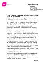 TNS Infratest Presseinformation