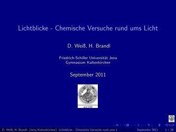 Lichtblicke - Chemische Versuche rund ums Licht - Friedrich-Schiller ...