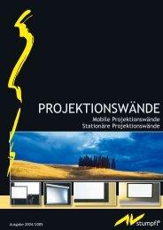 Katalog Projektionswände (PDF, 1405 kB) - Quattrovision.de