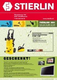 GESCHENKT! - Stierlin.ch