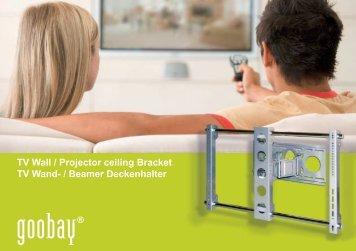 TV Wall / Projector ceiling Bracket TV Wand- / Beamer Deckenhalter