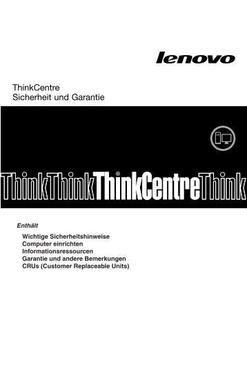 ThinkCentre Sicherheit und Garantie - Lenovo
