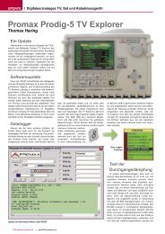 Promax Prodig-5 TV Explorer - TELE-satellite International Magazine