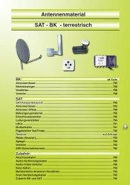 Antennenmaterial SAT - BK - terrestrisch