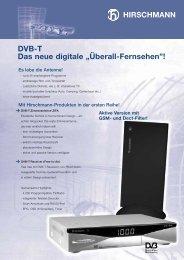"""DVB-T Das neue digitale """"Überall-Fernsehen""""! - Triax"""