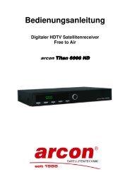 Bedienungsanleitung Digitaler HDTV Satellitenreceiver Free to Air