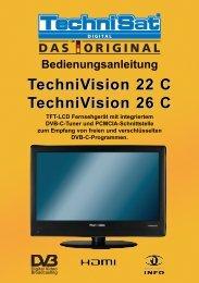 Bedienungsanleitung TechniVision 22 C TechniVision 26 C