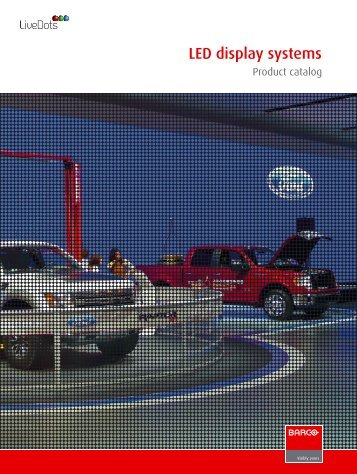 LED display systems product catalog - Barco