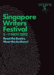 programme download - Singapore Writers Festival