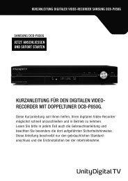 kurzanleitung digitaler video-recorder samsung dcb ... - Unitymedia