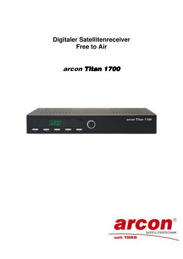 Digitaler Satellitenreceiver Free to Air