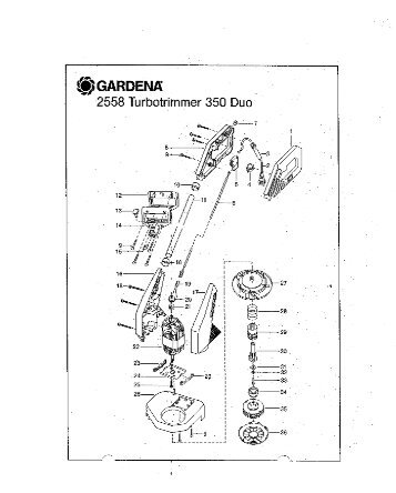 350 duo artikelnummer 2558 turbotrimmer gardena - Ersatzteil ...