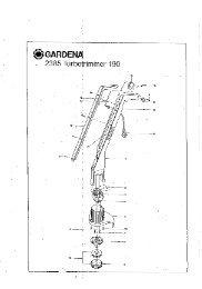 190 artikelnummer 2385 turbotrimmer gardena - Ersatzteil ...