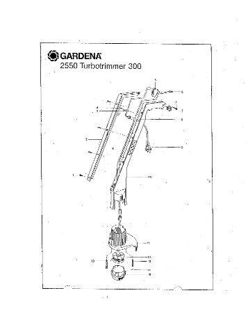 300 artikelnummer 2550 turbotrimmer gardena - Ersatzteil ...