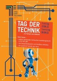 Anmeldung Tag der Technik 2011 Anmeldeschluss