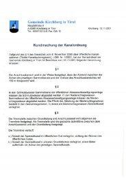 Kanalordnung (1,06 MB) - .PDF - Gemeinde Kirchberg in Tirol