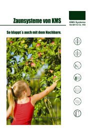 Doppelstab-Systeme - KMS Systeme GmbH & Co. KG
