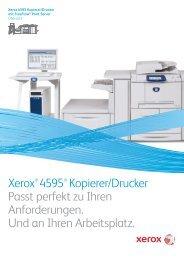 Der Xerox® 4595® Kopierer/Drucker mit Xerox FreeFlow® Print ...