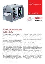 2-Farb-Etikettendrucker CAB XC-Serie - Bluhm Systeme GmbH