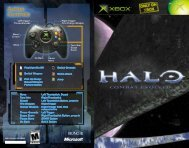 Halo: Combat Evolved - Microsoft Xbox - Manual - gamesdbase.com