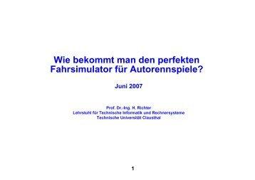 Folien - Institut für Informatik - TU Clausthal