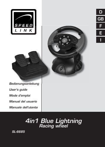 4in1 Blue Lightning Racing wheel - Speed Link