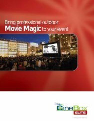 Cinebox™ Elite Brochure - Open Air Cinema