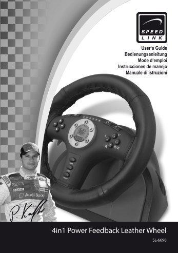 4in1 Power Feedback Leather Wheel - SPEEDLINK