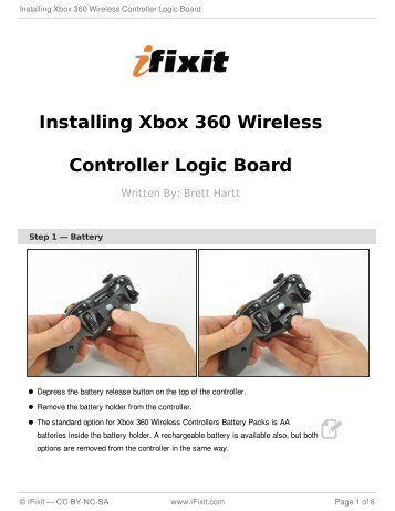 Installing Xbox 360 Wireless Controller Logic Board - iFixit