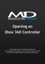 Opening an Xbox 360 Controller - JMODSCUSTOMCONSOLES
