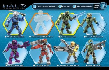 Blue Hayabusa Spartan Active-Camo UNSC Spartan II ... - Mega Bloks