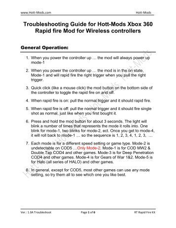 xbox 360 rapid fire controller instructions