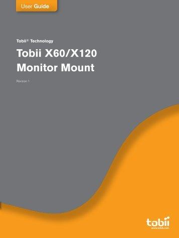 Tobii X60/X120 Monitor Mount