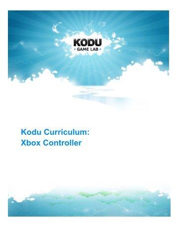 Kodu Curriculum: Xbox Controller
