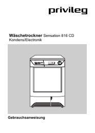Wäschetrockner Sensation 816 CD