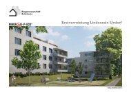 Erstvermietung Lindenrain Urdorf - Baugenossenschaft Schönheim
