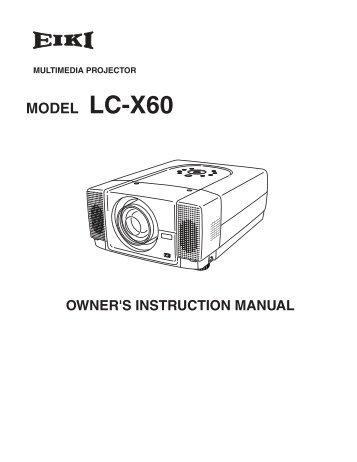 Eiki LC-X60 Manual