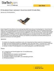 PCI Soundkarte 5 Kanal - Audiokarte 5.1 Sound ... - StarTech.com