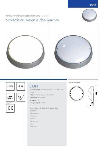 DOTT schlagfeste Design Aufbauleuchte