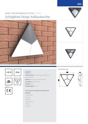 schlagfeste Design Aufbauleuchte geO