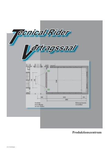Tecnical-Rider Vortragssaal