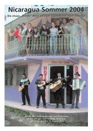 Nicaragua Sommer 2004 - Jinotega