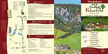 Wanderkarte - Gasthof Kleefeld